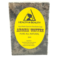Aroma coffee shea butter coconut handmade soap bar natural moisturizing body