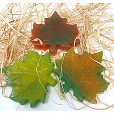 FRESH HANDMADE BIG AUTUMN LEAF ALL NATURAL HAND GLYCERIN SOAP 1 BAR