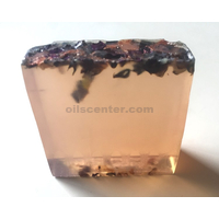 Sparkle rose glycerin soap bar handmade all natural moisturizing body & skin