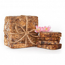 African black soap organic unrefined pure raw 100% natural from ghana 2 oz