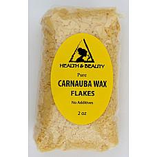 Carnauba wax - T1 organic flakes brazil pastilles beards premium 100% pure 2 oz
