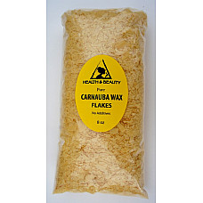 Carnauba wax - T1 organic flakes brazil pastilles beards premium 100% pure 8 oz