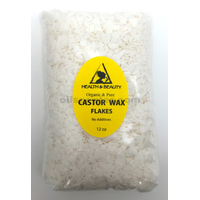 Castor wax flakes organic vegan pastilles beads premium natural 100% pure 12 oz