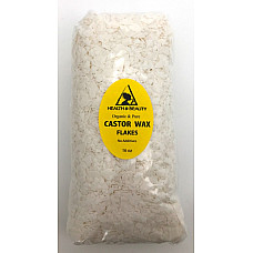 Castor wax flakes organic vegan pastilles beads premium natural pure 16 oz, 1 lb