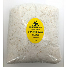 Castor wax flakes organic vegan pastilles beads premium natural pure 32 oz, 2 lb