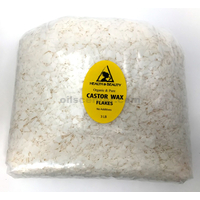 Castor wax flakes organic vegan pastilles beads premium natural pure 48 oz, 3 lb