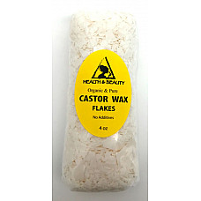 Castor wax flakes organic vegan pastilles beads premium natural 100% pure 4 oz