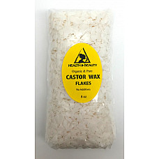 Castor wax flakes organic vegan pastilles beads premium natural 100% pure 8 oz