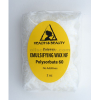 Emulsifying wax nf polysorbate 60 pure polawax 2 oz