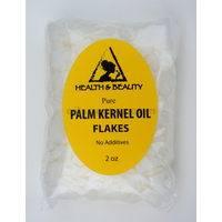 Palm kernel oil flakes pure natural for soaps cosmetics 2 oz
