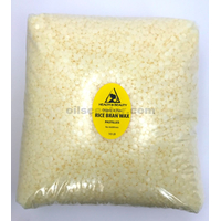 Rice bran wax organic flakes vegan beads vegetable pastilles 100% pure 10 lb