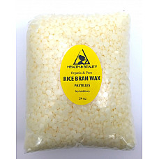 Rice bran wax organic flakes vegan beads vegetable pastilles 100% pure 24 oz