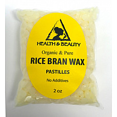 Rice bran wax organic flakes vegan beads vegetable pastilles 100% pure 2 oz