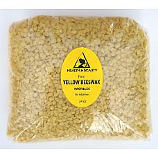 Yellow beeswax bees wax organic pastilles beards premium 100% pure 24 oz