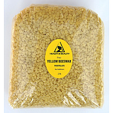 Yellow beeswax bees wax organic pastilles beards premium 100% pure 32 oz, 2 lb