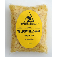 Yellow beeswax bees wax organic pastilles beards premium 100% pure 2 oz