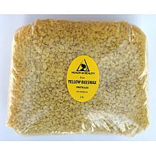 Yellow beeswax bees wax organic pastilles beards premium 100% pure 48 oz, 3 lb