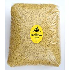 Yellow beeswax bees wax organic pastilles beards premium 100% pure 5 lb