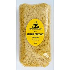 YELLOW BEESWAX BEES WAX ORGANIC PASTILLES BEARDS PREMIUM 100% PURE 8 OZ